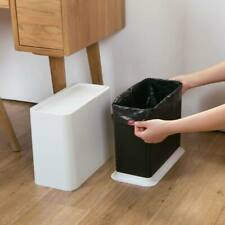 Touch Lid Kitchen Cabinet Door Trash Garbage Bin Can Rubbish Container New