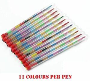 Children Kids Swap Swop Point Crayons Stacker Pencils Party Loot Bag Fillers