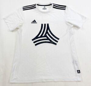 Adidas Tango Soccer Short Sleeve Crewneck T-Shirt Size Medium White