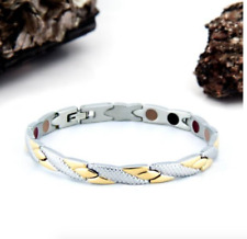 Authentic Pur life Negative Ion Bracelet ELEGANT STAINLESS STEEL GOLD twist