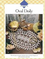 Oval Doily to Crochet Single Pattern Vanna White Pineapples & Picots
