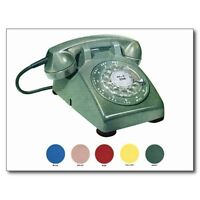 """*Postcard-""""The Green Rotary Telephone"""" (Picture on Postcard) -Classic-"""