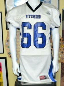 Pittsford High School MI Wildcats Game Cut Used Football Jersey XL #66