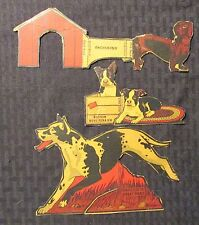 1930's Post Toasties Cereal Dogs Cut-Outs Vg+ 4.5 Lot of 3 Great Dane Terrier