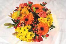 FRESH Real flowers Delivered Autumnal Orange Yellow Red FREE UK Next Day