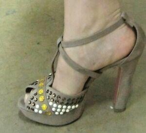 Schuhe Elegant Frau Nackt Mit Plato 37 Altamarea Open Toe