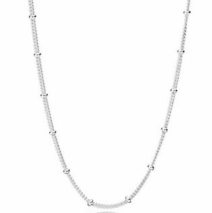 NEW Genuine Pandora Beaded Necklace 397210 70cm Sterling Silver Long Chain ALE