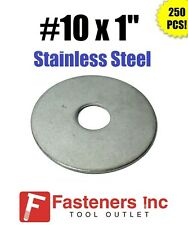 "(Qty 250) #10"" x 1"" OD Stainless Steel Fender Washers Type 304"