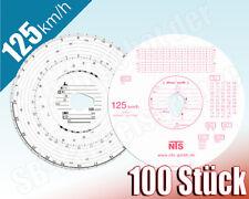 100x Tachoscheiben 125-24 125km/h Diagrammscheiben für Fahrtenschreiber 125 km/h