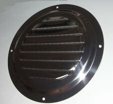 LOUVRE VENT WITH MOSQUITO NET MESH, 152mm DIAMETER, HEAVY GRADE STAINLESS STEEL