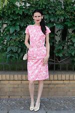 Horn Damen Kleid dress pink rosa Blumen flower 60er True VINTAGE 60´s women