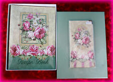 *NEW IN BOX* VICTORIAN ROSE SET OF 2 RECIPE BOOK & ADDRESS BOOK WITH ROSES