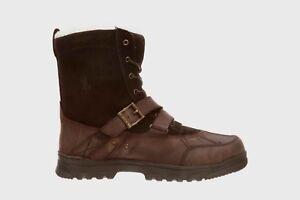 Ralph Lauren Big Kid's Tavin Shearling Boots NEW AUTHENTIC Chocolate 97811