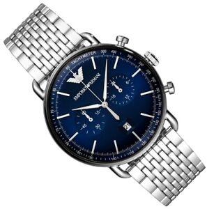 *NEW* EMPORIO ARMANI AR11238 AVIATOR MEN'S CHRONOGRAPH, BLUE DIAL WATCH