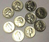 🇦🇺10x 1990 Australian 5 Cent Coins Low Mintage📮FREE Postage