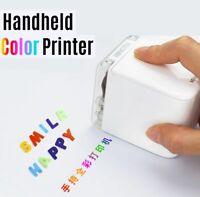 Handheld M-Brush Color Inkjet Printer 1200dpi Wi-fi USB iOS Android Logo Barcode