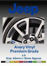 JEEP Alloy Wheel Vinyl Stickers - Graphics X 6