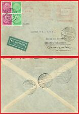 1937 cover GERMANY TO COLOMBIA MIT LUFPOST 4 STAMPS AND METER FRANKING WWII