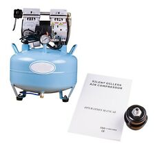 USA Dental UNIT Medical silent Noiseless Oil fume Oilless Air Compressor 30L