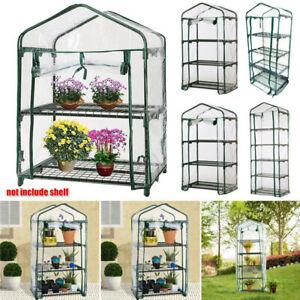 2/3/4/5 Tier Small Greenhouse PVC Outdoor Garden Steel Frame Plants Grow House .