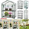 Mini Gewächshaus Abdeckung Outdoor Garten Stahlrahmen Pflanzen Anzucht Cover PVC