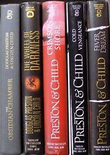 Lot of 5 Preston & Child Hardcover FEVER DREAM COLD VENGEANCE CRIMSON SHORE.....