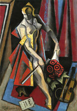 The Violinist   by Jean Metzinger  Giclee Canvas Print Repro