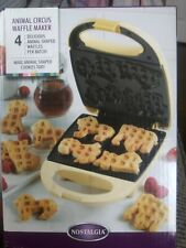 Animal Circus Waffle Maker Yellow Animal Shapes Non-Stick Fast-Cook Breakfast