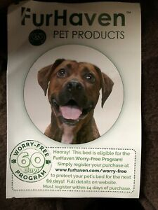 FurHaven Mattress for Dogs and Cats - Size L, Chocolate 3 Foot By 2 Foot