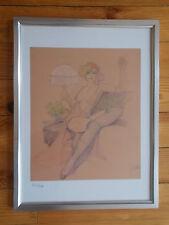 """Lithographie du dessinateur  Leone Frollo ,"""" Nu de style Art Déco """""""