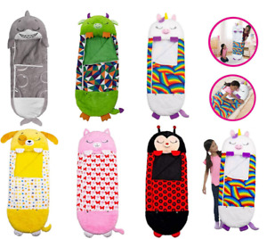 Happy Nappers Kids Sleeping Bag Boys Girls Play Pillow Unicorn Xmas Gift Cute AU