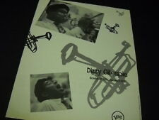 DIZZY GILLESPIE Octctober 21, 1917 - January 6, 1993 PROMO POSTER AD mint cond