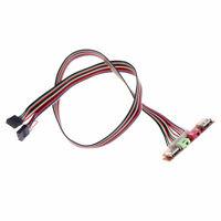 2 USB PC Computer Case Front Panel USB Audio Port Mic Earphone Cable 6.8cm _UK
