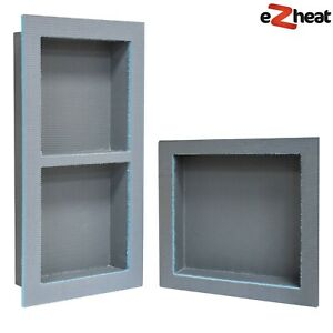 Tileable Wetroom Shower Niche Shampoo Cubby Alcove with Flange Bathroom Shower