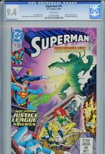 Superman #74 CGC 9.4 White Pages Doomsday Justice League of America DC Comics