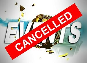 Cancelled sticker 9556 Events and functions cancelled let people know stay safe