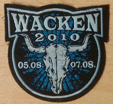 W:O:A - Wacken Open Air - Patch - Aufnäher - 2010 - WOA - Kutte NEU!