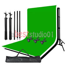 Black White Green Backdrop Chroma Key Screen Photo Studio Background Stand Kit