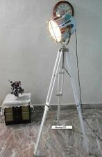 Vintage  Searchlight Focus Lamp  White tripod Floor Lamps Home Decorative gift