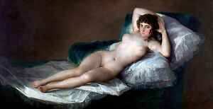 Francisco Goya - The Nude Maja, Erotic Art, Museum Art Poster, Canvas Print
