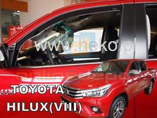 Wind Deflectors TOYOTA HILUX VIII 4-doors 2016-onwards 2-pc HEKO Tinted