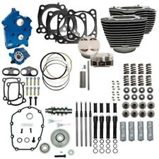 """S&S 107"""" to 124"""" Water Cooled Power Package Gear Drive Black Harley Touring M8"""