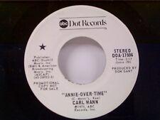 """CARL MANN """"ANNIE-OVER TIME / SAME"""" 45 PROMO MINT"""