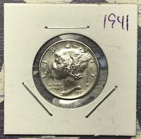 1941 Mercury Silver Dime. Collector Coin For You. FREE SHIPPING