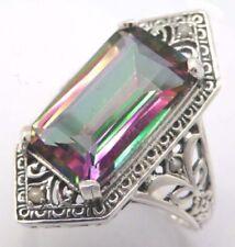 Anelli di lusso multicolore in argento sterling pietra principale topazio