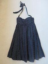 WAYNE COOPER black/white spot dot 50s style halter dress