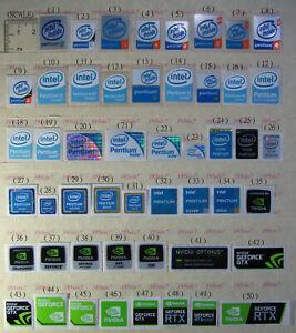 intel Pentium 3 4 Pentium dual core Pentium m Gold Pentium D Nvidia Sticker