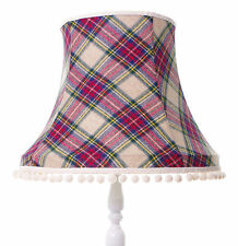 Tartan lampshade in purple white red green black for ceiling or standard lamp