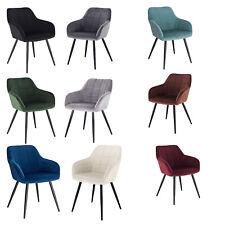 Esszimmerstuhl Küchenstuhl Wohnzimmerstuhl Polsterstuhl mit Armlehne Samt Sessel