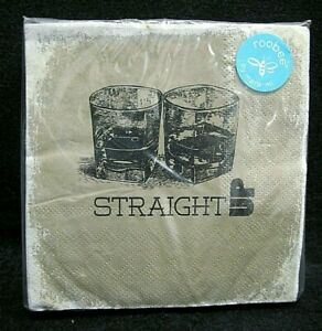 """Roobee by mara-mi ~ """"STRAIGHT UP"""" Cocktail Beverage Paper Napkins~Set of 40"""